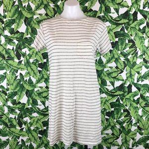 5 for $25 Billabong Cream Striped Open Back Dress